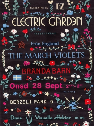 The March Violets - Stockholm 1983 gig poster